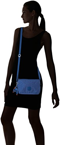 Kipling Delphin N - Bolsos bandolera Mujer Azul (Jazzy Blue)