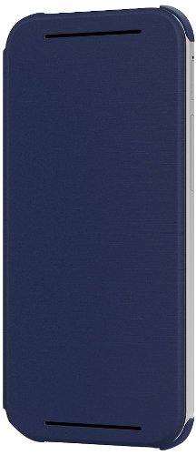HTC Flip Case for HTC One (M8) - Retail Packaging - Imperial Blue (Flip Htc Phone)