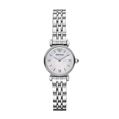 Emporio Armani Women's Quartz Stainless Steel Watch, Color:Silver-Toned (Model: AR1763)