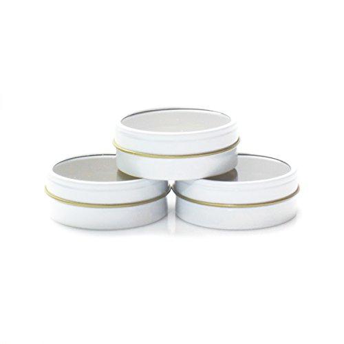 Mimi Pack 4 oz Tins 24 Pack of Shallow Window Top Round Tin Containers with Lids For Cosmetics, Party Favors, Gifts and Food Storage - Tin Round Gift