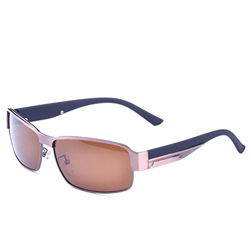 A-Roval Men Polarized Rectangular Large Driving Touring Metal - Store Hut Sunglass Coupons