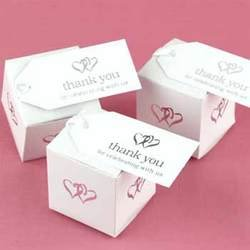 Hortense B. Hewitt White Linked at Heart Favor Cards - Linked Heart Silver Thank You Cards