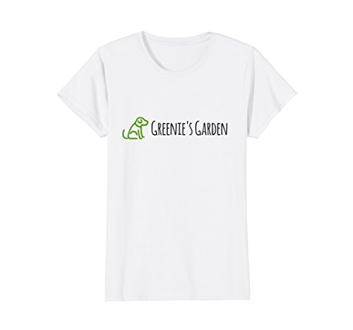 Alyssas Garden - Womens Greenies Garden Tshirt Brandon and Alyssa Garden Small White