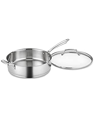 Cuisinart 6 Qt. Saute Pan with Helper Handle and Cover