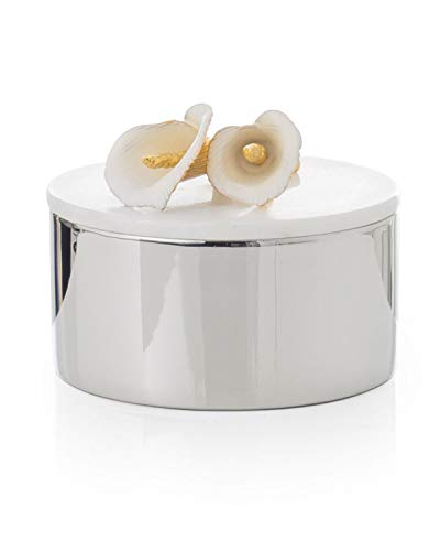 Michael Aram Decorative Calla Lily Marble Box with Lid -