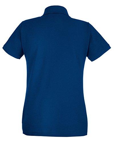 Fruit of the Loom 63212Damen Short Sleeve Damen–Lady-Fit 65/35Polo Shirt–Navy–Medium