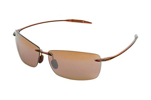 Maui Jim Lighthouse Polarized Rimless Sunglasses, Rootbeer, 65 mm