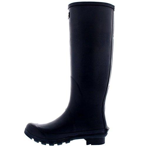 Damen Barbour Bede Schnee Gummistiefel Mitte Wade Wasserdicht Stiefel - Marine - 42