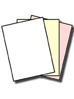1 Case of 1670 Sets Pre Collated,Carbonless Paper size 8.5 x 11 - 3 Part Reverse - White,Canary,Pink. by S Superfine Printing (Image #1)