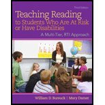 Teaching Reading to Students Who Are at Risk or Have Disabilities