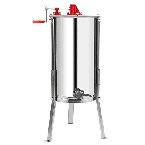 - VINGLI Upgraded 2 Frame Honey Extractor Separator,304 Food Grade Stainless Steel Honeycomb Spinner Drum Manual Crank With Adjustable Height Stands,Beekeeping Pro Extraction Apiary Centrifuge Equipment