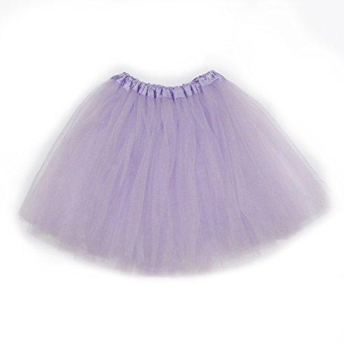 Dreamdanceworks - Falda tutú clásica de tul elástico de 3 capas morado claro