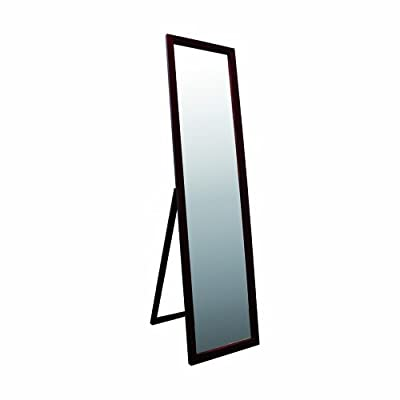 ORE International 55-Inch Walnut Finish Stand Mirror - Quality construction-easy to assemble Classic design for bedroom or dressing room Full length - mirrors-bedroom-decor, bedroom-decor, bedroom - 31K1 s4UDdL. SS400  -