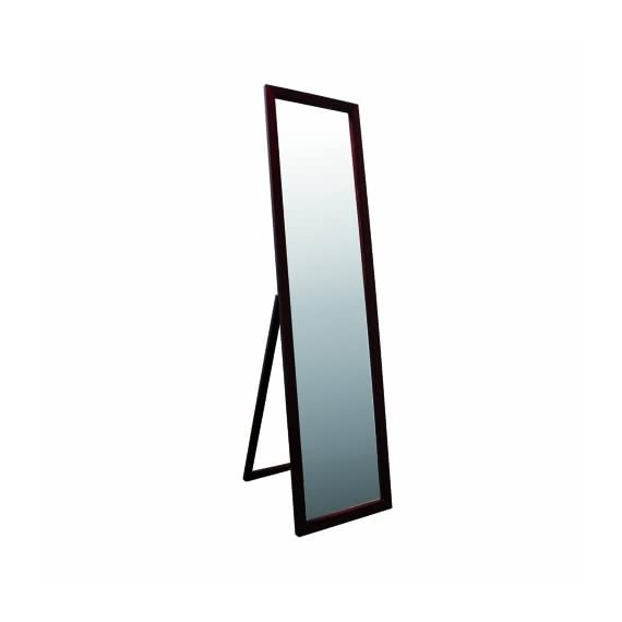 ORE International 55-Inch Walnut Finish Stand Mirror - Quality construction-easy to assemble Classic design for bedroom or dressing room Full length - mirrors-bedroom-decor, bedroom-decor, bedroom - 31K1 s4UDdL. SS570  -