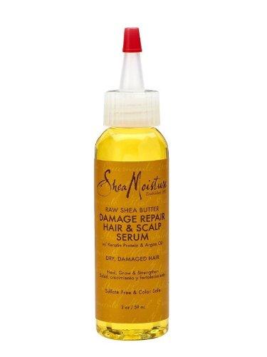 (SheaMoisture Raw Shea Butter Damage Repair Hair & Scalp Serum, 2 Ounce)