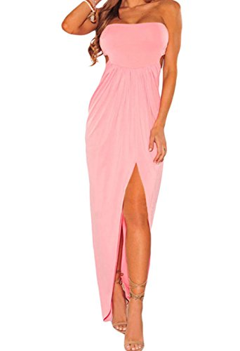 YeeATZ Corset-Style Back Lace Up Dress(Pink,L)