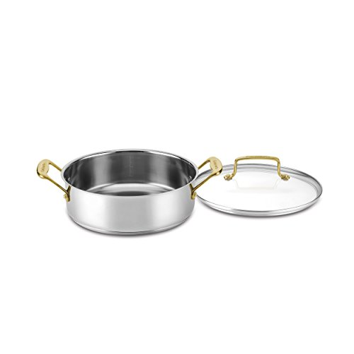 - Cuisinart C7M55-24GD Mineral Collection Casserole with Cover, Medium, Stainless Steel