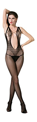 Oolala #1 Best Selling Sexy Fishnet Bodystocking Mesh Crotchless Lingerie (Professional Burlesque Costumes)