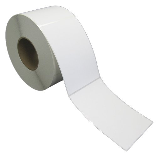 "4x6 Inch Thermal Transfer Paper Labels - White - Rolls - 8"" OD - 3"" Core - 1000 Labels Per Roll, 4 Rolls Per Box - 1 Box - for Zebra and Other Thermal Transfer Barcode Label Printers (L-VT-40601P)"