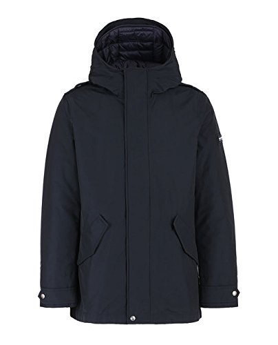 Wocps2587 Woolrich Eskimo cn03 Military Long dkn Dark Blue Navy qwa4wdvcy