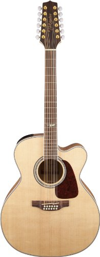 Takamine GJ72CE-12NAT Jumbo Cutaway 12-String Acoustic-Electric Guitar ()