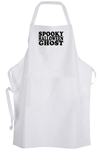 Spooky Halloween Ghost - Adult Size Apron - Scary Cute Funny Humor Costume