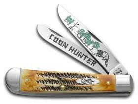 CASE XX Coon Hunter 6.5 BoneStag Trapper 1/600 Stainless Pocket Knife Knives