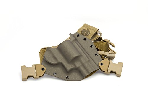 (GunfightersINC Kenai Chest Holster for .460/.500 X-Frame Revolvers, MAS Grey/Coyote, Right Hand (Gen2))