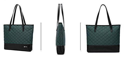 Satchel Handle Top Pouce Ordinateur Porte Designer PINCHU Fourre Sac Portable Business Léger 14 Lady Bureau Green Tout Femmes Élégant Cartable 4aAqwRB1