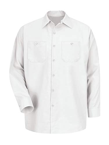 Red Kap Long Sleeve Industrial Solid Work Shirt White Medium - 2 Pack (Best White Work Shirts)