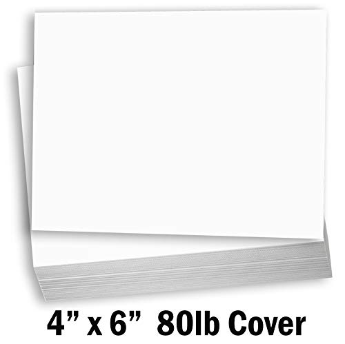 Hamilco White Cardstock Thick Paper - Blank Index Flash Note & Post Cards - Greeting Invitations Stationary 4 X 6