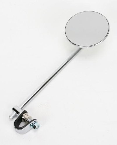 Emgo Universal Clamp-On Mirror Round - 10 Stem - Tinted - 3/4, 7/8 or 1 Bars - EIther 20-06810
