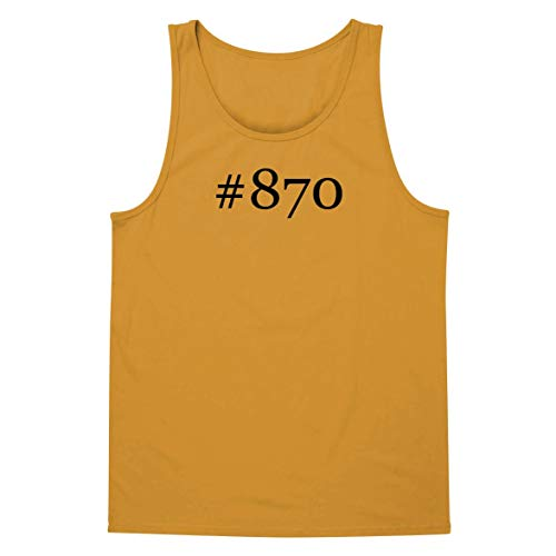 The Town Butler #870 - A Soft & Comfortable Hashtag Men's Tank Top, Gold, Large