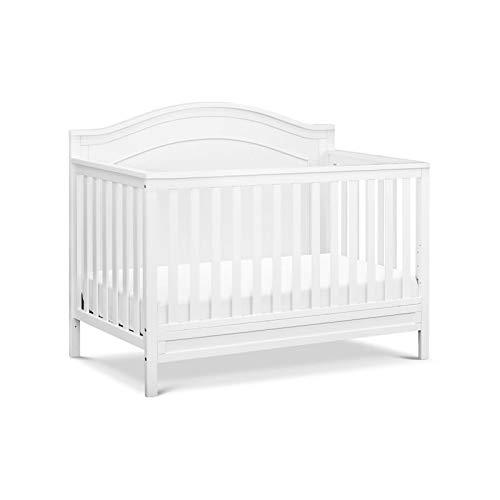 DaVinci Charlie 4-in-1 Convertible Crib in White | Greenguard Gold Certified by DaVinci