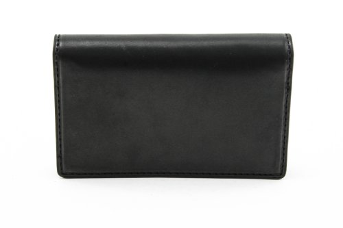 Italian Leather Prima Business &Credit Card Case Wallet (Black) by Tony Perotti (Image #1)