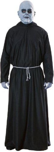 The Addams Family Uncle Fester Costume (Mask, Hooded Robe, Belt Cord)