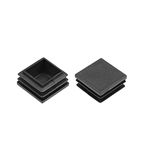 uxcell Plastic Plug End Caps 28mm x 28mm Square Furniture Table Chair Legs 40Pcs (28 Mm Square)