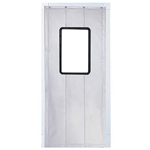 JIANFEI Door Curtain Winter Keep Warm Waterproof,3 Colors, 17 Sizes Customizable (Color : Silver, Size : 120x200cm)
