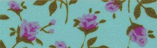 Washi Tape Zarcillo de flores turquesa 15mm x 10m - cinta adhesiva- Pulsera regalo - Cinta decorativa