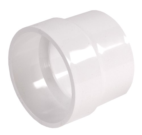 (NDS 3P16 4-Inch by 4-Inch PVC Adaptor with Drain Waste Vent to Sewer and Drain Connection, White)