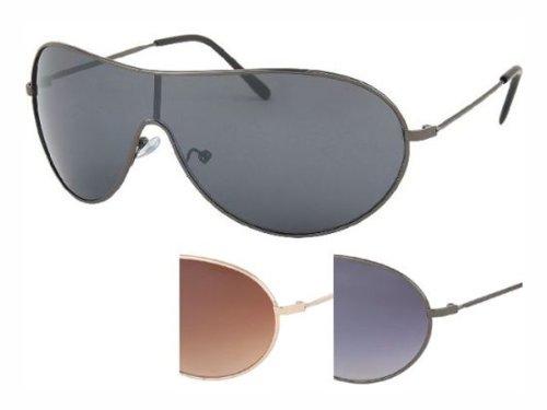 Chic-Net sunglasses mono discs Unisex Temples caps metal tinted UV 400 - Temple Uv