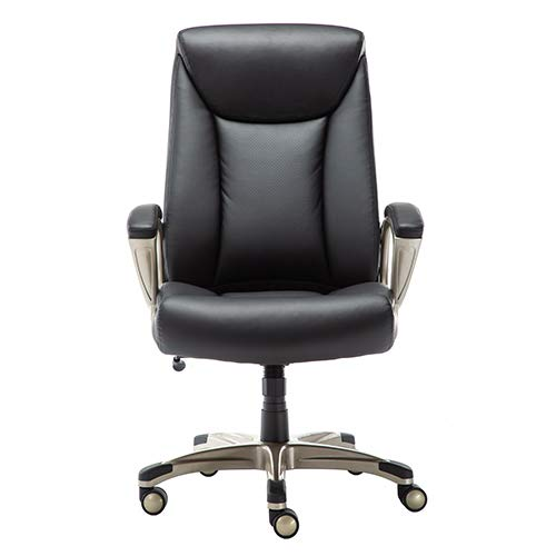Amazon Basics Bonded Leather Big Tall Executive Office Computer Desk Chair