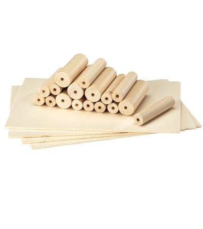 Extra Lathe Dowels and Wood Set, Set of 12