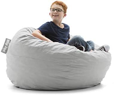 Awesome Big Joe 0030658 Kids Fuf Filled Chair Fog Lenox Shredded Bralicious Painted Fabric Chair Ideas Braliciousco