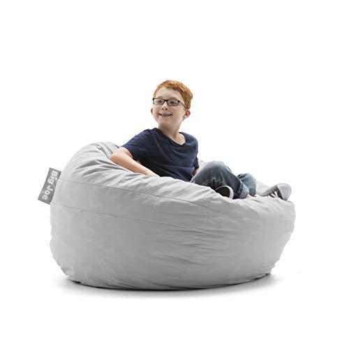 - Big Joe 0030658 Kid's Fuf Filled Chair, Fog Lenox Shredded Foam Bean Bag, Fog Gray, Fog Gray