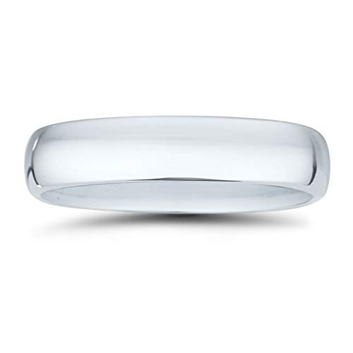 Platinum 950 Domed Wedding Band - 5mm Classic Domed Comfort Fit Wedding Band in 950 Platinum