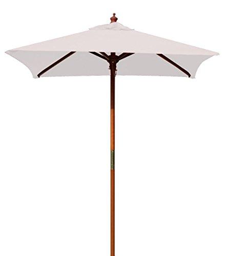 (Above All Advertising, Inc. 4' Brolliz Square Umbrella, Wood (White))
