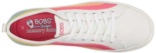 Fashion Women's White Multi Sneaker Cloudy BOBS Skechers Rainbow 4IqSF