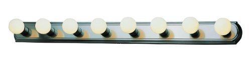 Trans Glob Lighting 3248 ROB 8-Light Basic Strip Vanity Light, Rubbed Oil Bronze by Bel Air Lighting - DROPSHIP