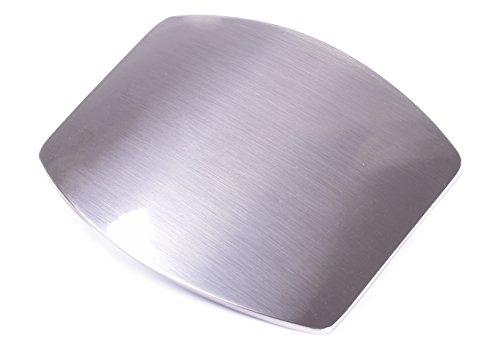 [Silver Western Plain rectangular Mirror Design Cowboy Belt buckle] (Plain Buckle)